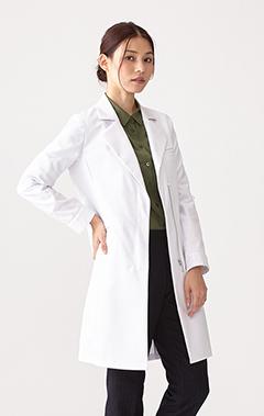 レディース白衣:トレンチワンピースコート