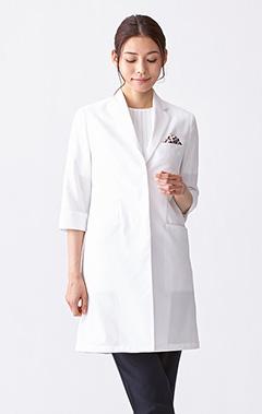 レディース白衣:ライトフレアコート