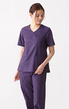 レディース手術衣:スクラブトップス・GIZA
