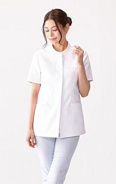 レディース白衣:二重織りケーシー