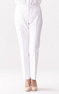 レディース白衣:二重織りイージーパンツ