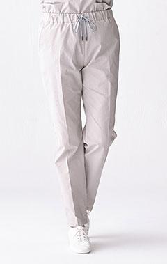 レディース手術衣:スクラブパンツ・シアサッカー