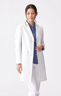レディース白衣:ヌードフィット・ブライトコットン