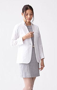 レディース白衣:ジャージージャケット