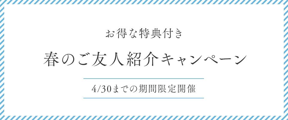 春のご友人紹介キャンペーン