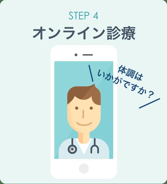 オンライン診療「クリニクス」STEP4:オンライン診療
