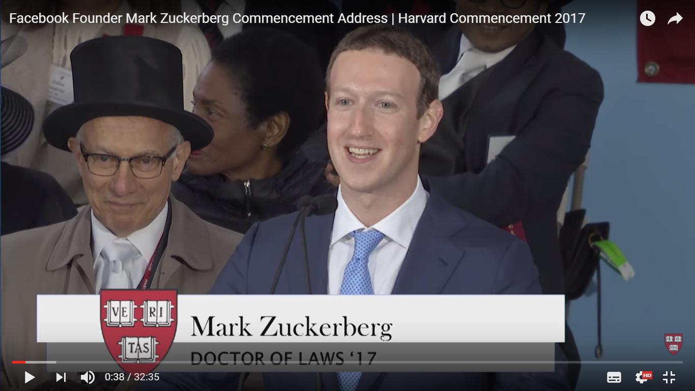 「皆が生きがいや目標を持つことで、社会は前に進む」Facebook創業者マーク・ザッカーバーグ氏がミレニアル世代に贈った言葉