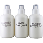 [ネット限定]洗たく洗剤用 詰め替え 空ボトル 800mL+ラベル付×3本