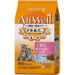 AllWell 健康に育つ子猫用 フィッシュ味挽き小魚とささみ フリーズドライパウダー入り 800g(400g×2袋)
