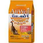 AllWell 室内猫用チキン味 挽き小魚とささみフリーズドライパウダー入り 800g(400g×2袋)