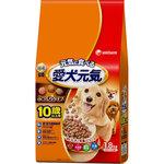 愛犬元気 10歳以上用 ビーフ・ささみ・緑黄色野菜・小魚入り 1.8kg