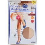 Leg Beauty らくしてキレイ スッキリ引き締め L~LL 694 ヌードベージュ 3足