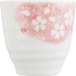 立ち湯呑み 花のうた ピンク 1個