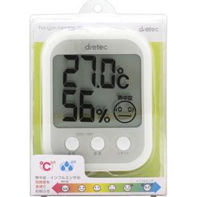 デジタル温湿度計 「オプシスプラス」O−251WT WT 1個