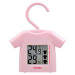 [ネット限定]乾きやすさがわかる 部屋干し番 温湿度計 ピンク