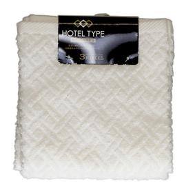 ホテル仕様 おしぼりタオル アイボリー 3枚組(34cm×35cm)