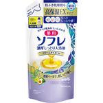 薬用ソフレ 濃厚しっとり入浴液 ホワイトフローラルの香り つめかえ用 400mL