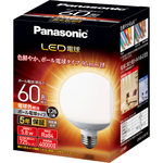 LED電球 E26口金(ボール電球タイプ)95ミリ径 電球色相当 LDG6DG95W 1個
