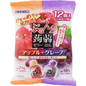 ※ぷるんと蒟蒻ゼリーパウチ アップル+グレープ 240g(20g×12個)