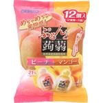 ぷるんと蒟蒻ゼリーパウチ ピーチ+マンゴー 240g(20g×12個)