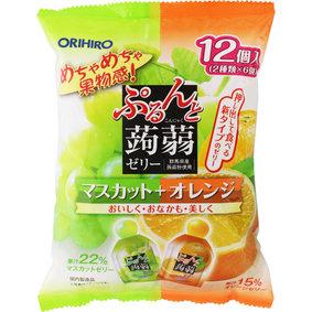 ※ぷるんと蒟蒻ゼリーパウチ マスカット+オレンジ 240g(20g×12個)