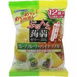 ぷるんと蒟蒻ゼリーパウチ グレープフルーツ+パイナップル 240g(20g×12個)