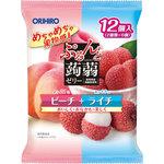 ※ぷるんと蒟蒻ゼリーパウチ ピーチ+ライチ 240g(20g×12個)