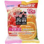 ぷるんと蒟蒻ゼリーパウチ イチゴ+温州みかん 240g(20g×12個)