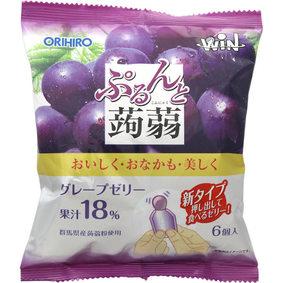 ※ぷるんと蒟蒻ゼリーパウチ グレープ(WIN) 120g(20g×6個)