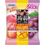 ぷるんと蒟蒻ゼリー ピーチ+マンゴー+グレープ 480g(20g×24個)
