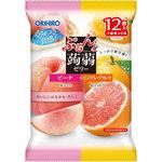 ※ぷるんと蒟蒻ゼリーパウチ ピーチ+ピンクグレープフルーツ 240g
