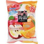 ※ぷるんと蒟蒻ゼリーパウチ 蜜りんご+温州みかん 240g(20g×12個)