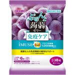 ※ぷるんと蒟蒻ゼリーパウチ プラズマ乳酸菌(巨峰味) 120g(20g×6個)