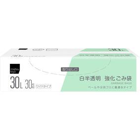 matsukiyo 強化ごみ袋 30L 白半透明 30枚