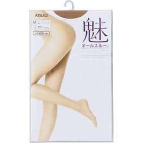 ASTIGU 【魅】オールスルー M~L 433 ヌーディベージュ 1足