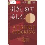 ATSUGI STOCKING 引きしめて美しく。 L~LL シアーベージュ 3足