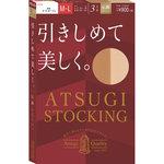 ATSUGI STOCKING 引きしめて美しく。 M~L ヌーディベージュ 3足