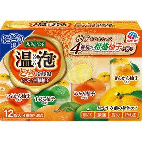 温泡 ONPO とろり炭酸湯 ぜいたく柑橘柚子 45g×12錠(4種×3錠)