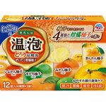 温泡 ONPO とろり炭酸湯 ぜいたく柚子柑橘 45g×12錠(4種×3錠)