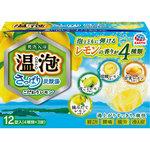 温泡 ONPO さっぱり炭酸湯 こだわりレモン 12錠(4種類×3錠)