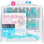 便利フック快適角ハンガー30P WB ホワイト/ブルー 1個