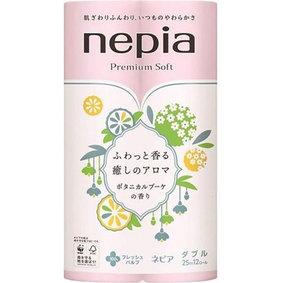 ネピア プレミアムソフト トイレットロール 癒しのアロマ ダブル ボタニカルブーケの香り 25m×12ロール