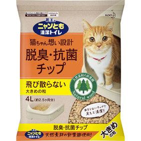 ニャンとも清潔トイレ 脱臭・抗菌チップ 大きめの粒 4L