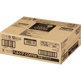 ※ヘルシアコーヒー 無糖ブラック 185g×30本