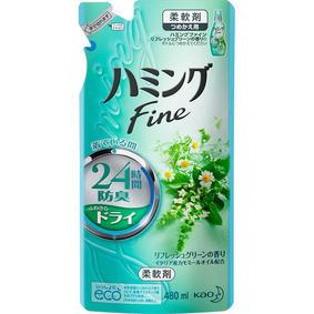 ハミングファイン リフレッシュグリーンの香り つめかえ用 480mL