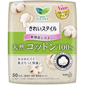 ロリエ きれいスタイル 天然コットン100% 50個