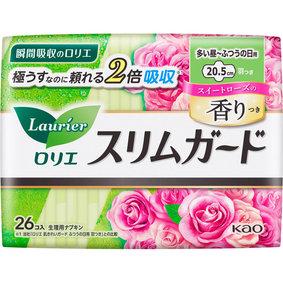 ロリエ スリムガード スイートローズの香り 多い昼~ふつうの日用 羽つき 26個