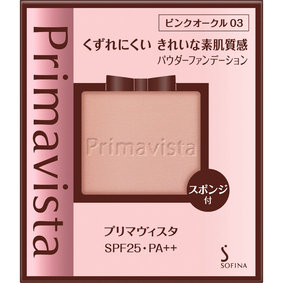 プリマヴィスタ くずれにくい きれいな素肌質感 パウダーファンデーション ピンクオークル03 9g
