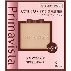 プリマヴィスタ くずれにくい きれいな素肌質感 パウダーファンデーション ベージュオークル01 9g