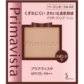 プリマヴィスタ きれいな素肌質感パウダーファンデーション ベージュオークル03 9g